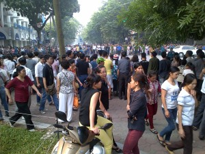Giap funderal procession gathering