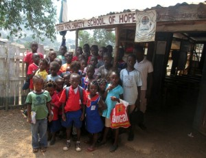 Borbor kids at entrance