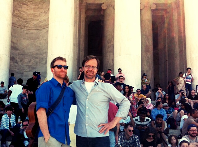 Alex & Peter at Jefferson Memorial spring 2014