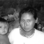 Portrait of a Warao mother and child